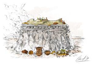 Pira funeraria romana | IDU Ilustración