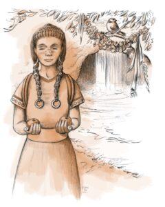 Rito de paso de joven íbera | IDU Ilustración