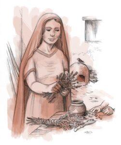 Mujer íbera | IDU Ilustración