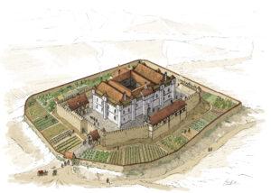 Castillo y palacio de Tiebas (Navarra) | IDU Ilustración