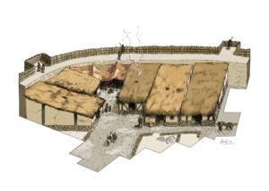Poblado de la Edad del Hierro de Las Eretas (Navarra) | IDU Ilustración