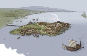 Catoira (Galicia) en época romana | IDU Ilustración
