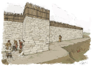 Poblado de la Edad del Hierro de Las Eretas (Navarra | IDU Ilustración