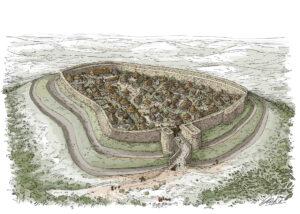 Poblado fortificado galaico | IDU Ilustración