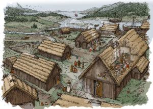 Poblado vikingo | IDU Ilustración