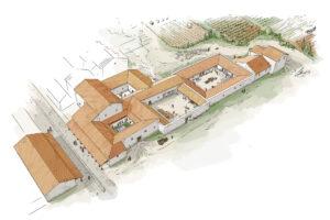 Villa romana de Vinamargo (Castelló) | IDU Ilustración