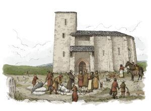 Enterramiento medieval | IDU Ilustración