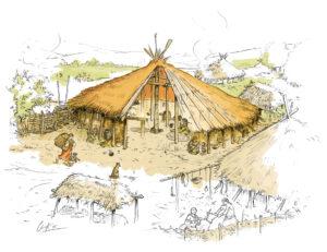 Cabaña neolítica | IDU Ilustración