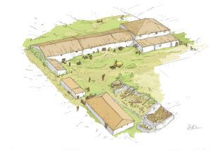 Villa romana de Legarda-Fase I | IDU Ilustración