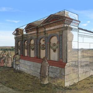 Mausoleo romano de los Atilios (Zaragoza) | IDU Ilustración