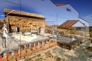 Termas de la ciudad romana de Los Bañales (Zaragoza) | IDU Ilustración