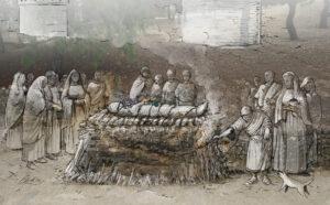Pira funeraria. Necrópolis de Carmona (Sevilla) | IDU Ilustración