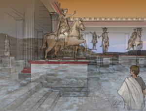 Ciudad romana de Los Bañales (Zaragoza) | IDU Ilustración
