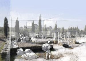Fullonica en la ciudad romana de Andelo (Navarra) | IDU Ilustración