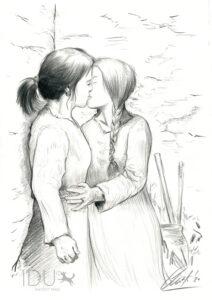 Dos jóvenes astures | IDU Ilustración