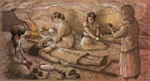 Ritual funerario prehistórico(Cova des Carritx, Menorca) | IDU Ilustración