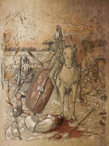 Guerras Sertorianas. Asalto a Vareia (La Custodia-Navarra) | IDU Ilustración