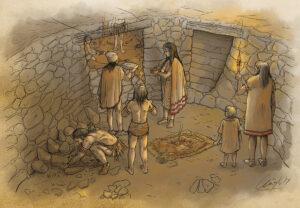 Ritual guanche (Gran Canaria) | IDU Ilustración