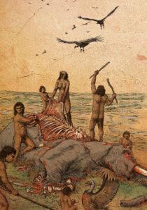 Carroñeo, Paleolítico Medio (Porzuna-Ciudad Real) | IDU Ilustración