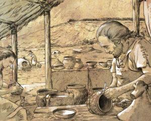 Alfarero de la Edad del Hierro (Castejón-Navarra) | IDU Ilustración