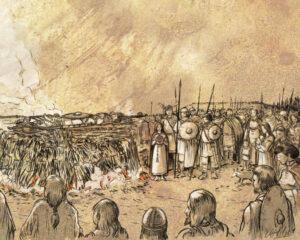 Ritual de cremación de la Edad del Hierro (Castejón-Navarra) | IDU Ilustración