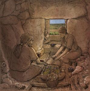 Enterramiento en la Naveta des Tudons (Menorca) | IDU Ilustración