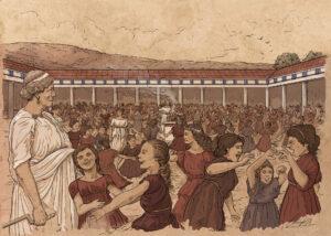 Baile de la Osa en el santuario de Brauron (Grecia) | IDU Ilustración